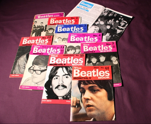 A selection of Beatles Monthly Magazines from the 1960's