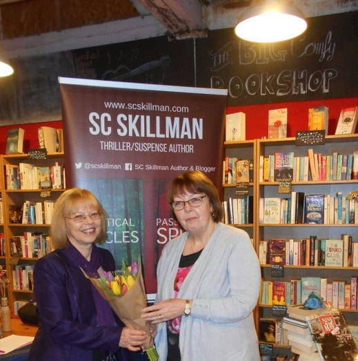 Margaret Mather and SC Skillman - Author Talk at meeting of the Coventry Writers Group, Big Comfy Bookshop, Fargo Village, Coventry 7 Mar 2018
