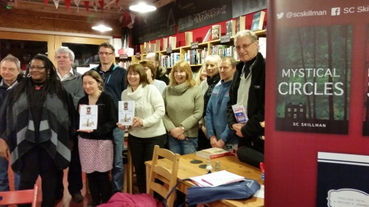 Members of the Coventry Writing Group, Big Comfy Bookshop, Fargo Village, Coventry 6 March 2018