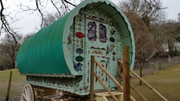 Gipsy caravan for children's parties