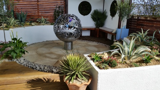 Gold-winning garden by Pershore College students
