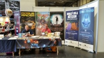 Author Gareth Baker's display at the UK Games Expo