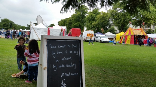 Einstein quote at Leamington Spa Peace Festival