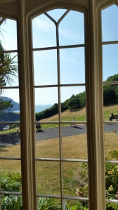 View from Octagon at Lee Abbey, Devon