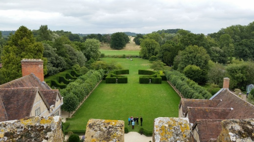 The view from the battlements of the gatehouse tower, Coughton Court