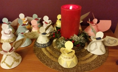 Angels and Christmas candle