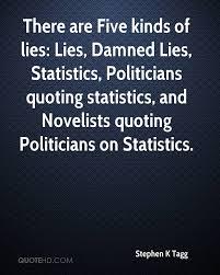 politicians and statistics