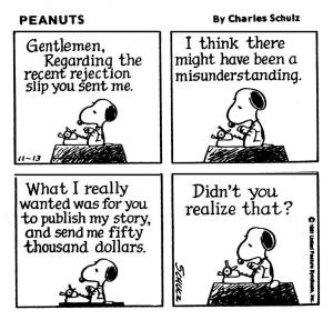 Snoopy the struggling author