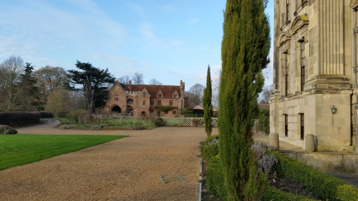 View of the 14th century gatehouse at Stoneleigh Abbey