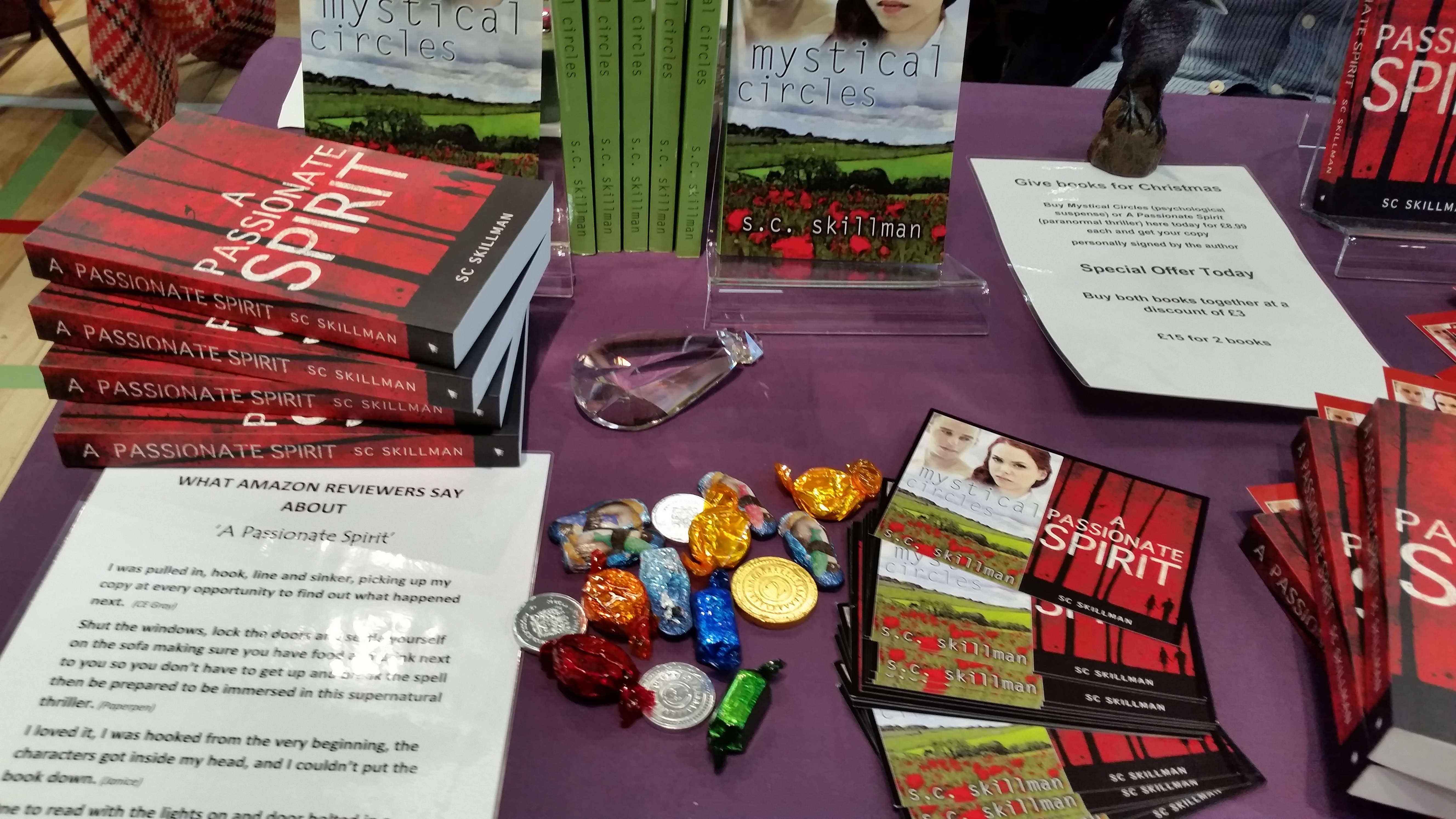 SC Skillman booksigning table at King Edward VI School Christmas Fair 3 Dec 2016.jpg