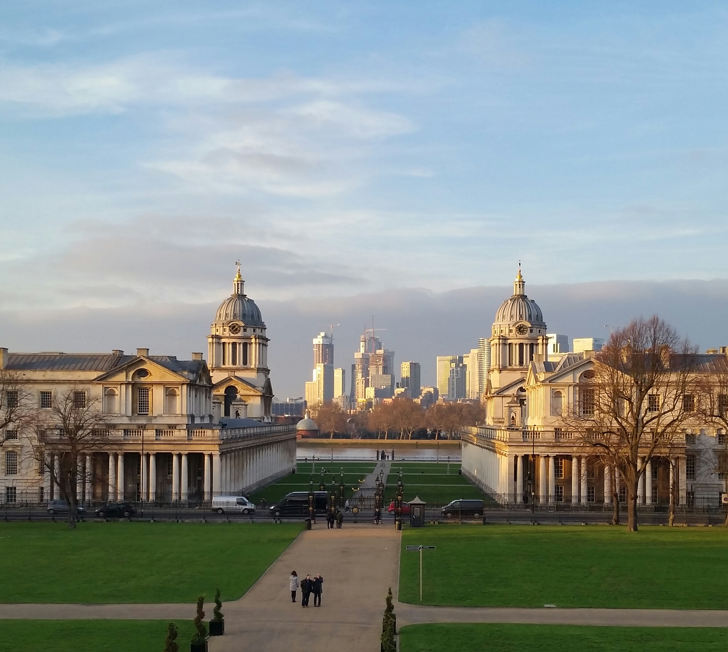 View north across the River Thames from the Queen's House, Greenwich