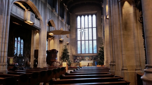 Interior of All Hallows by the Tower photo taken after the 11am Sung Eucharist on 6 Jan 2019