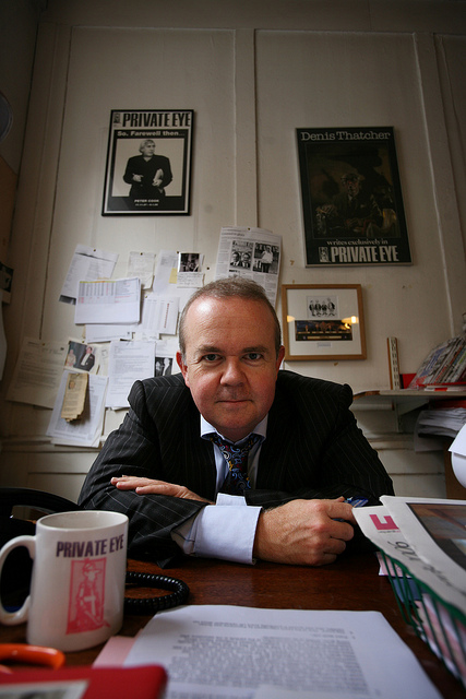 ian hislop in his office at private eye