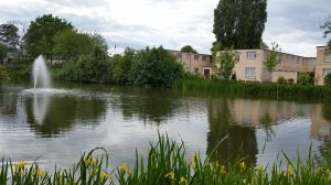 Bletchley Park - View of Block B from across the lake.