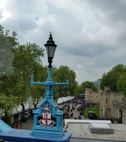 South side of tower of London seen from Tower Bridge Approach