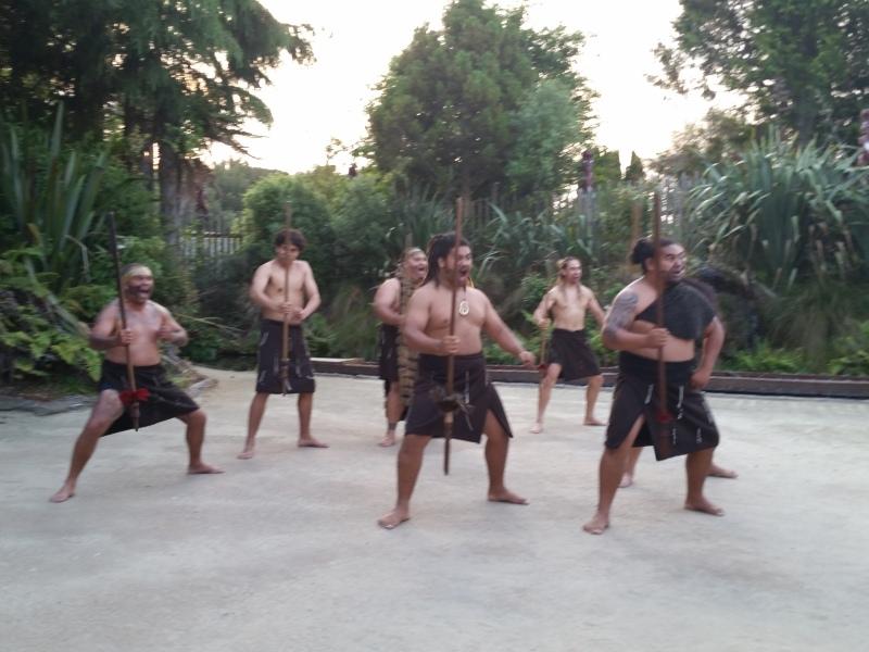 Opening ceremony at the Tamaki Maori Village, Rotorua