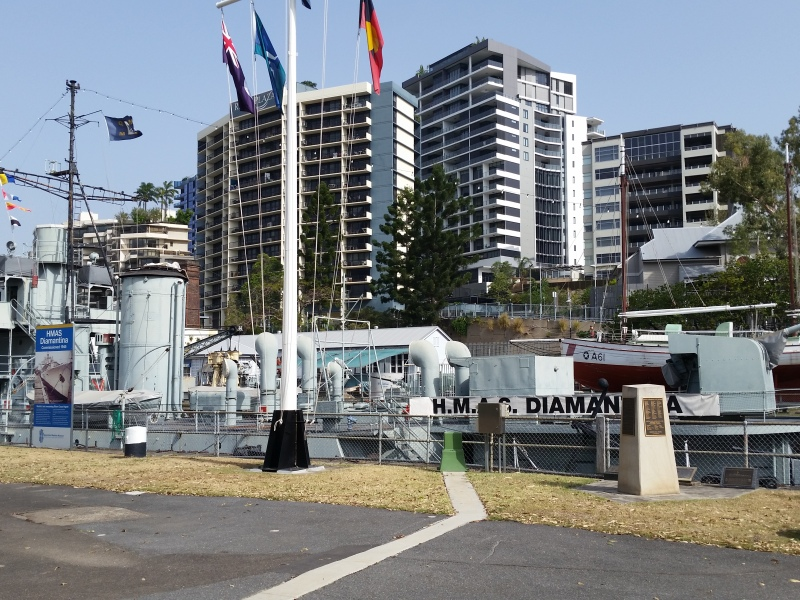 The Diamantina 2nd World war frigate at the Queensland Maritime Museum, Brisbane