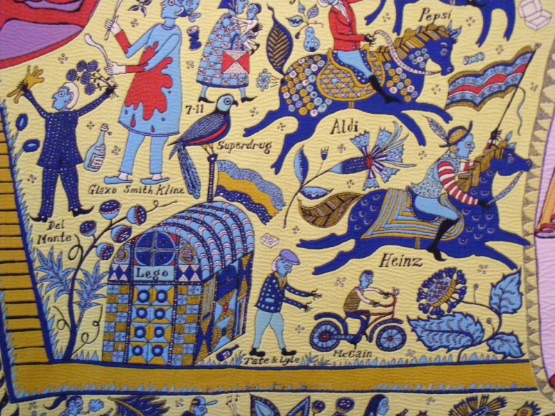 Grayson Perry detail Walthamstow Tapestry