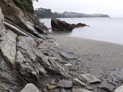 Trebah Gardens private beach Polgwidden Cove Cornwall SC Skillman