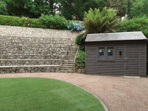outdoor theatre Trebah Gardens Cornwall SC Skillman
