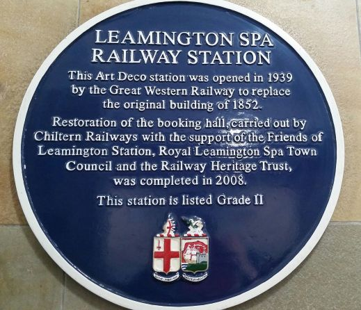 Historical plaque Leamington Spa Railway Station photo credit Sheila Robinson Paranormal Warwickshire SC Skillman