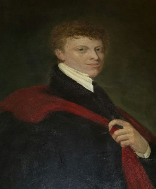 Chandos Leigh, poet, and first baron Leigh of the second creation, painting at Stoneleigh Abbey