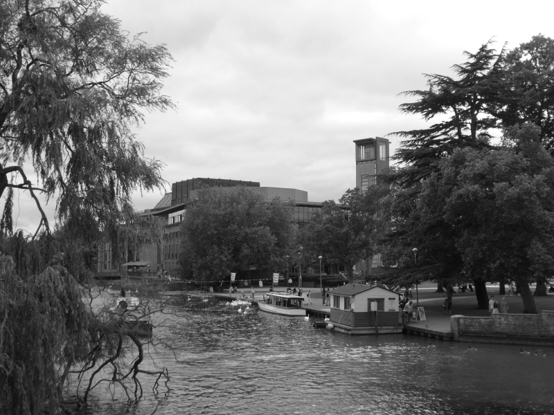 Royal Shakespeare Theatre from Clopton Bridge Stratford upon Avon