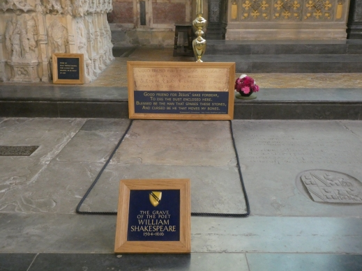Shakespeare's grave Holy Trinity Church Stratford upon Avon