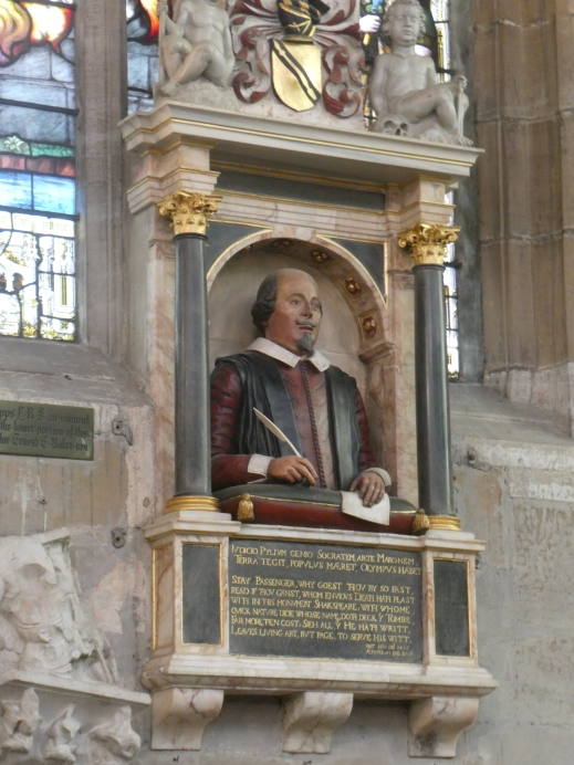 Shakespeare monument Holy Trinity Church Stratford upon Avon