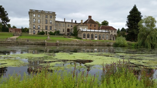 Stoneleigh Abbey from other side of river Avon Paranormal Warwickshire