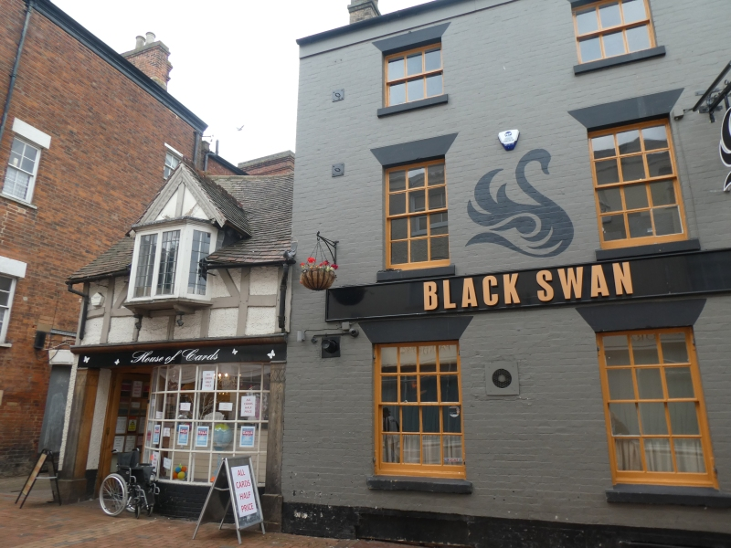 The Black Swan pub 14th century house Chapel Street Rugby Warwickshire