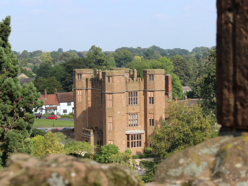 View of Leicester's Gatehouse from the Keep of Kenilworth Castle photo credit Sheila Robinson Paranormal Warwickshire SC Skillman
