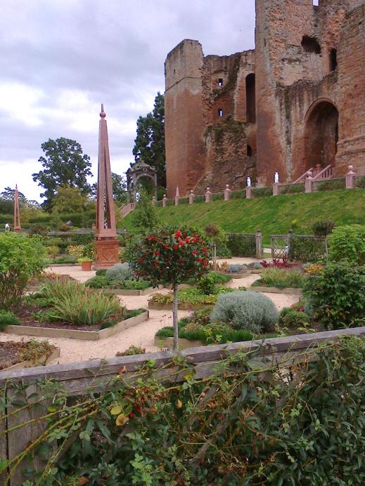 View of the Kenilworth Castle keep from the Elizabethan garden photo credit Sheila Robinson Paranormall Warwickshire SC Skillman