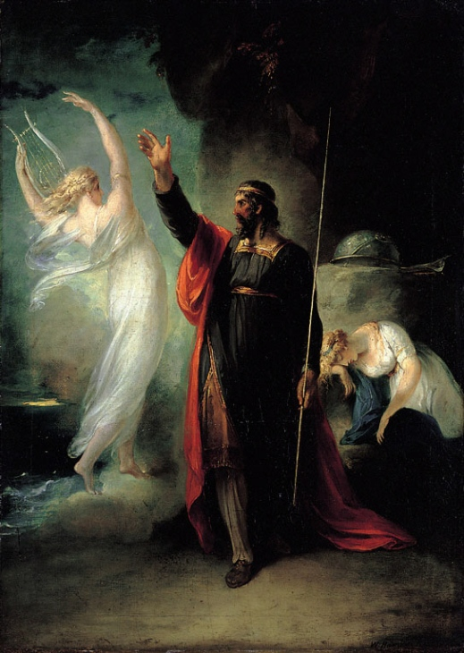 Prospero, Ariel & Miranda from Shakespeare's The Tempest. Paiting by William Hamilton Image sourced from Wikipedia. SC Skillman Paranormal Warwickshire