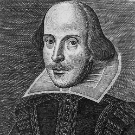 William Shakespeare Engraving First Folio 1623 by Martin Droeshout