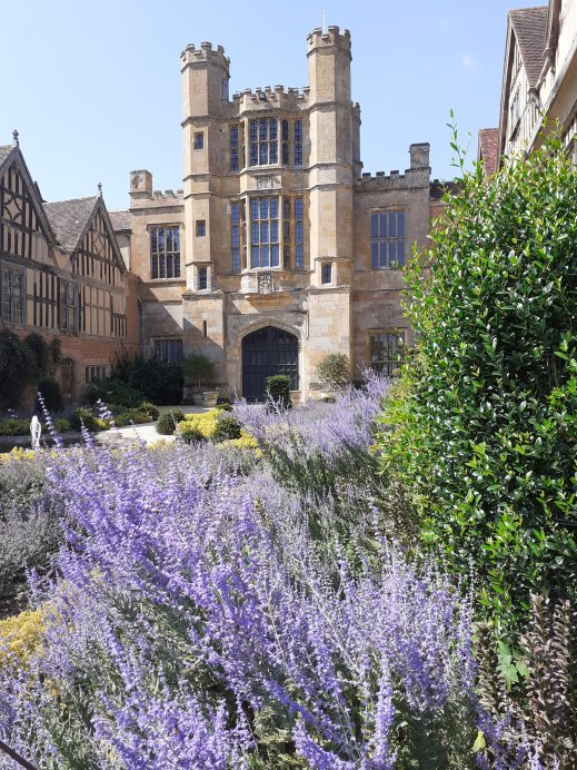 View towards Front entrance Coughton Court Warwickshire